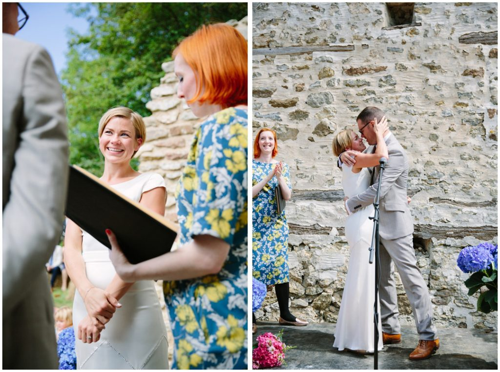 Outdoor Wedding ceremony photographer