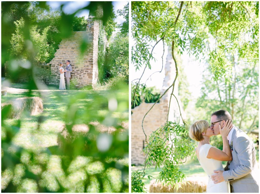 Relaxed Outdoor Wedding Ceremony In An Old